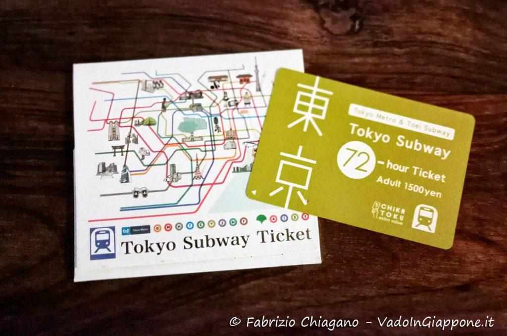 Abbonamento 62 ore alle metropolitane di Tokyo