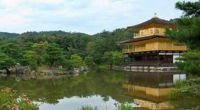 Riflesso del Kinkakuji, Kyoto, Giappone