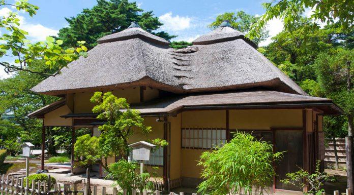 Una casa del tè, Kenrokuen, Giappone