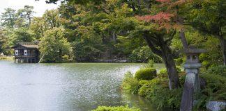 Giardino Kenrokuen, Kanazawa, Giappone