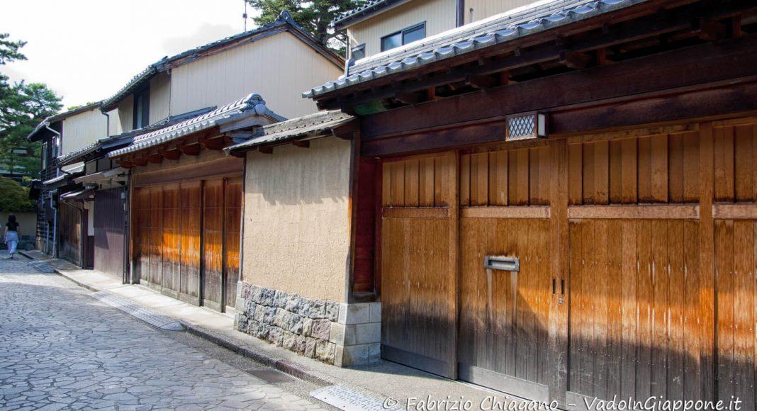 Quertiere di Nagamachi, Kanazawa, Giappone