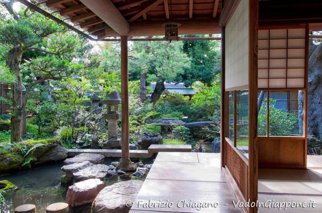 Giardino della Nomura Samurai House, Kanazawa, Giappone