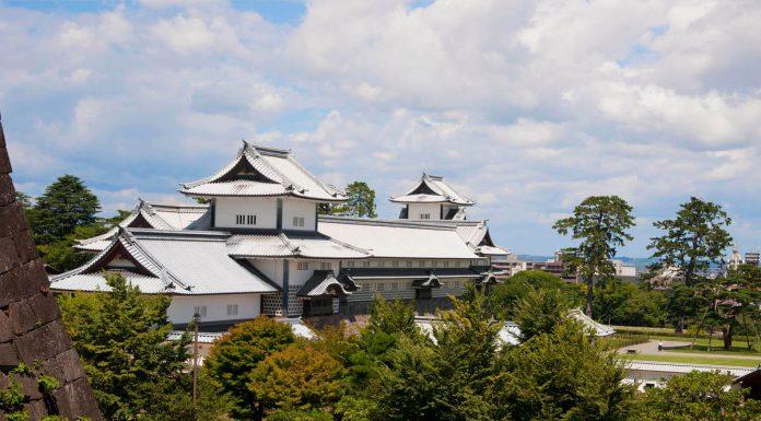Vista della parte centrale del Castello di Kanazawa