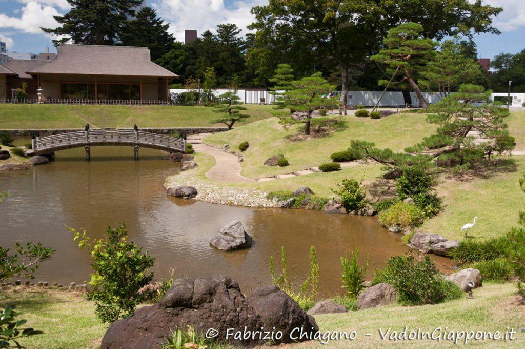Giardino Gyokuseninmaru all'interno del Castello di Kanzawa
