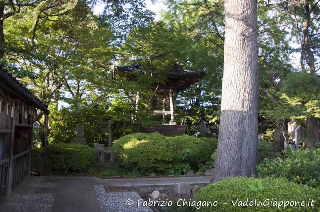 Giardino a Utatsuyama, Kanazawa, Giappone