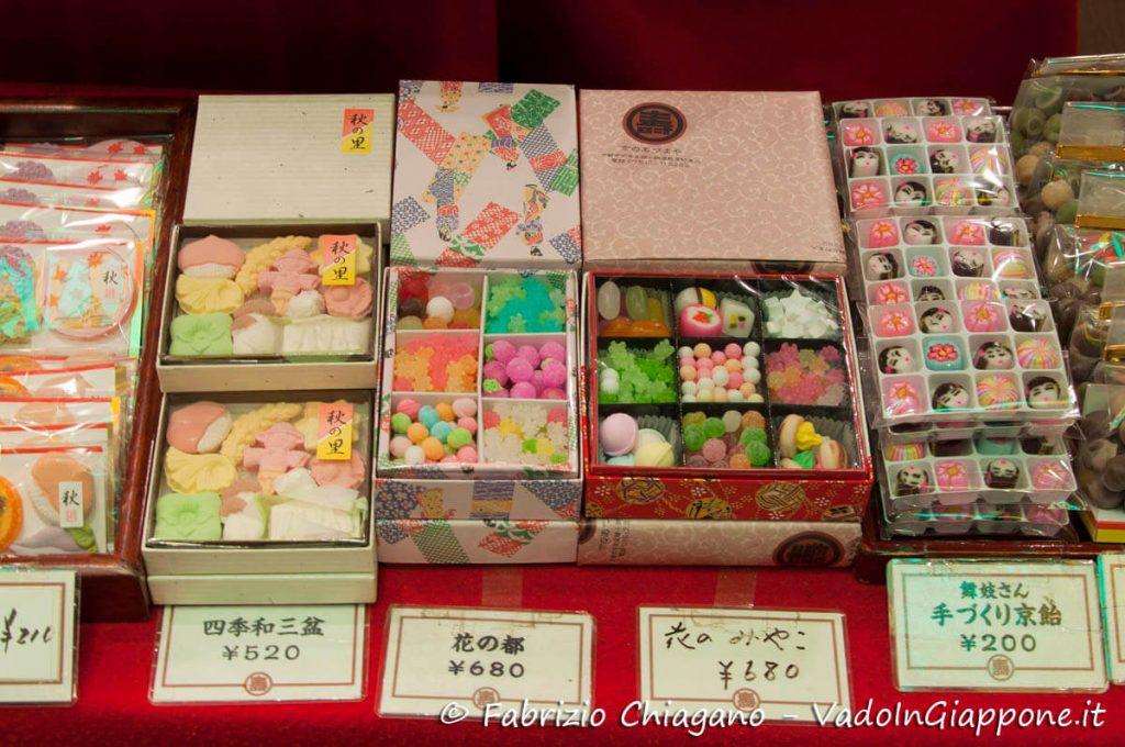 Caramelle al Nishiki Market, Kyoto, Giappone