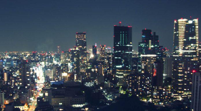 Grattacieli in notturna visti dalla Tokyo Tower