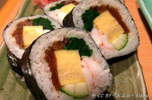 Futomaki, Sushi, Cibi e cucina giapponese