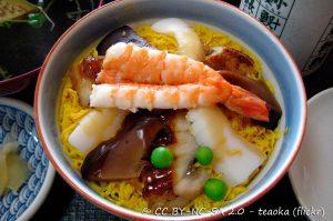 Mushi-zushi, Sushi, Cibi e cucina giapponese