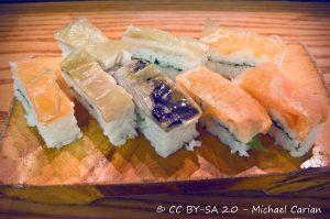 Oshi-zushi, Sushi, Cibi e cucina giapponese