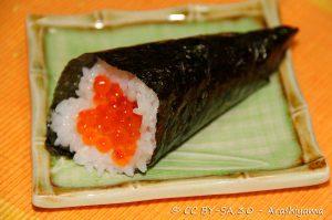 Temaki, Sushi, Cibi e cucina giapponese