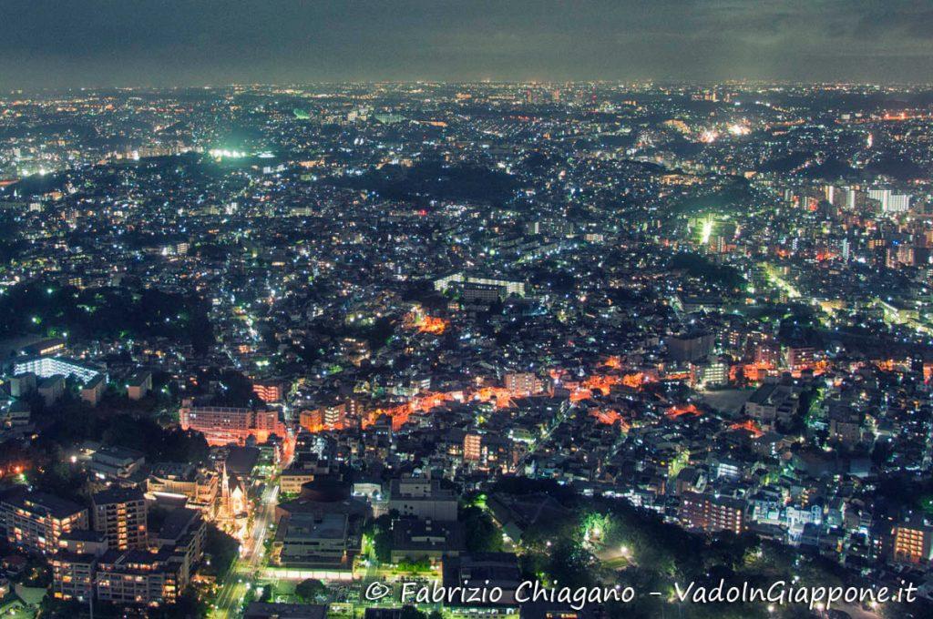 Dettaglio dalla Landmark Tower, Yokohama, Giappone