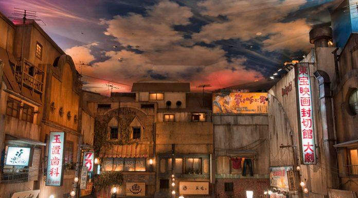 Dettaglio del Museo del Ramen di Yokohama, Giappone