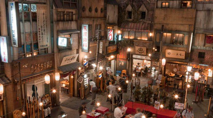 Alcuni ristoranti all'interno del Museo del Ramen di Yokohama, Giappone