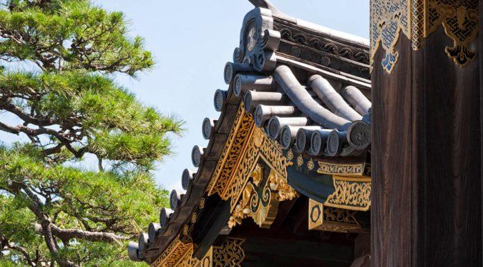 Dettaglio del Castello di Nijo, Kyoto, Giappone