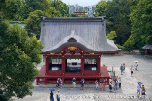 Maiden del santuario Tsurugaoka Hachimangu, Kamakura, Giappone