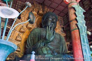Grande statua del Buddha del tempio Todaiji, Nara, Giappone