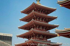 Pagoda del tempio Sensoji, Tokyo, Giappone
