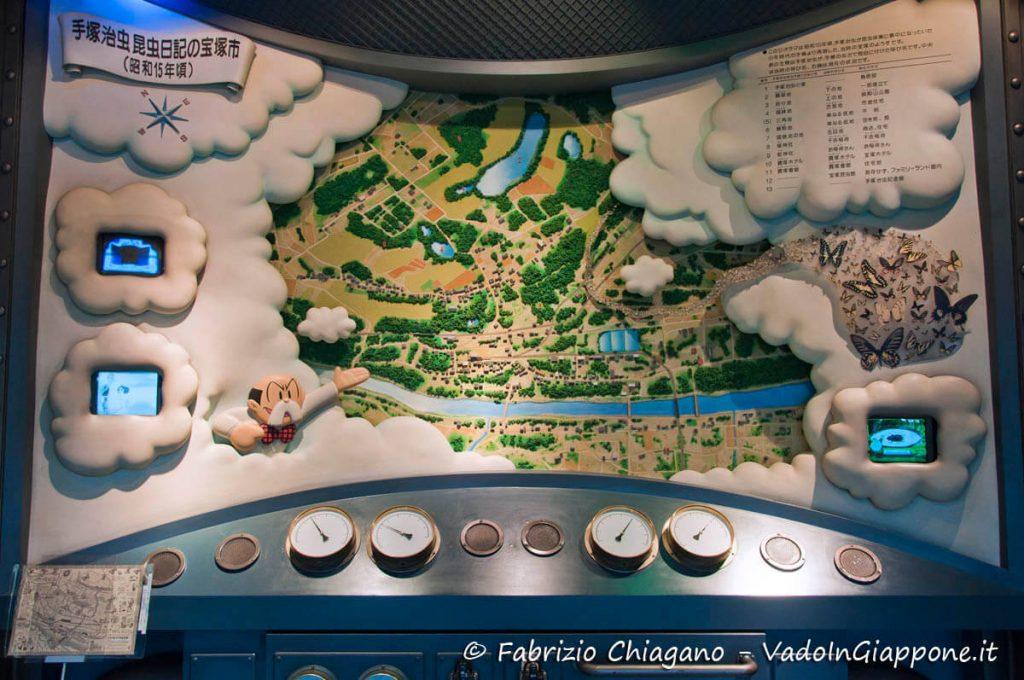 Particolare del Tezuka Osamu Manga Museum, Takarazuka, Giappone