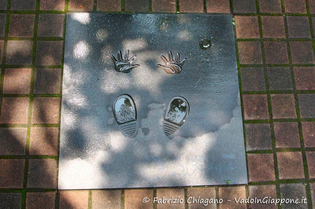 Impronte nel cemento dei personaggi di Tezuka Osamu