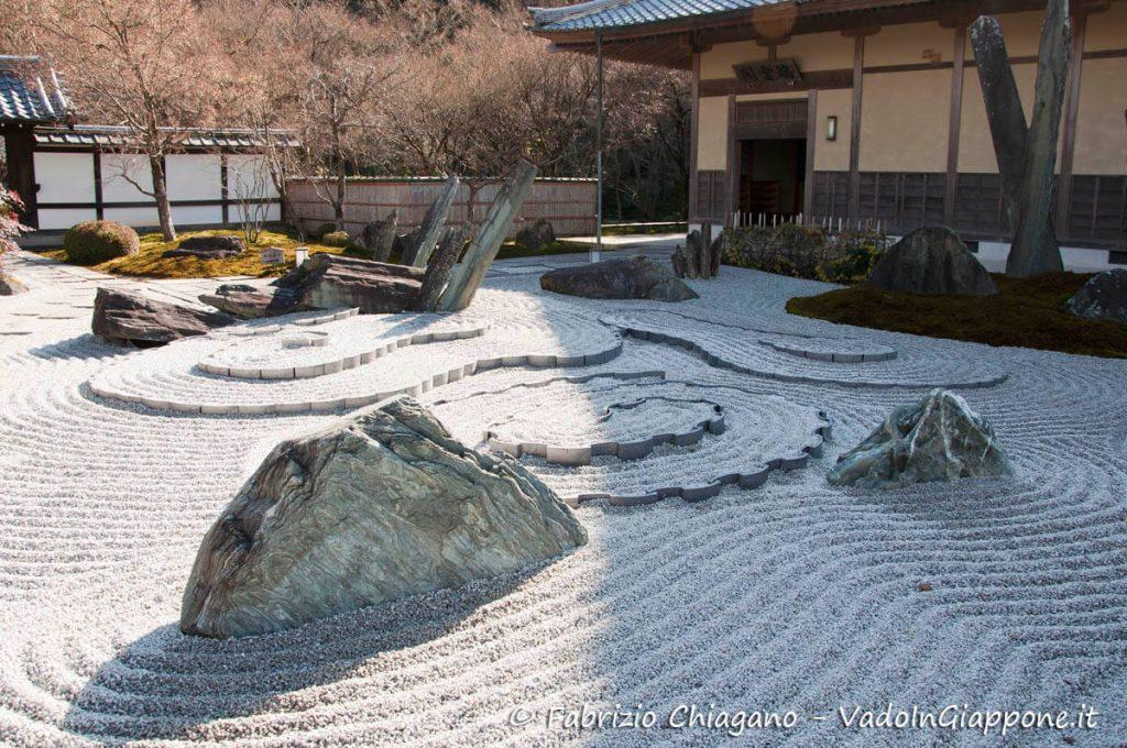 Giardino zen all'interno del Tempio Enkou-ji, Kyoto