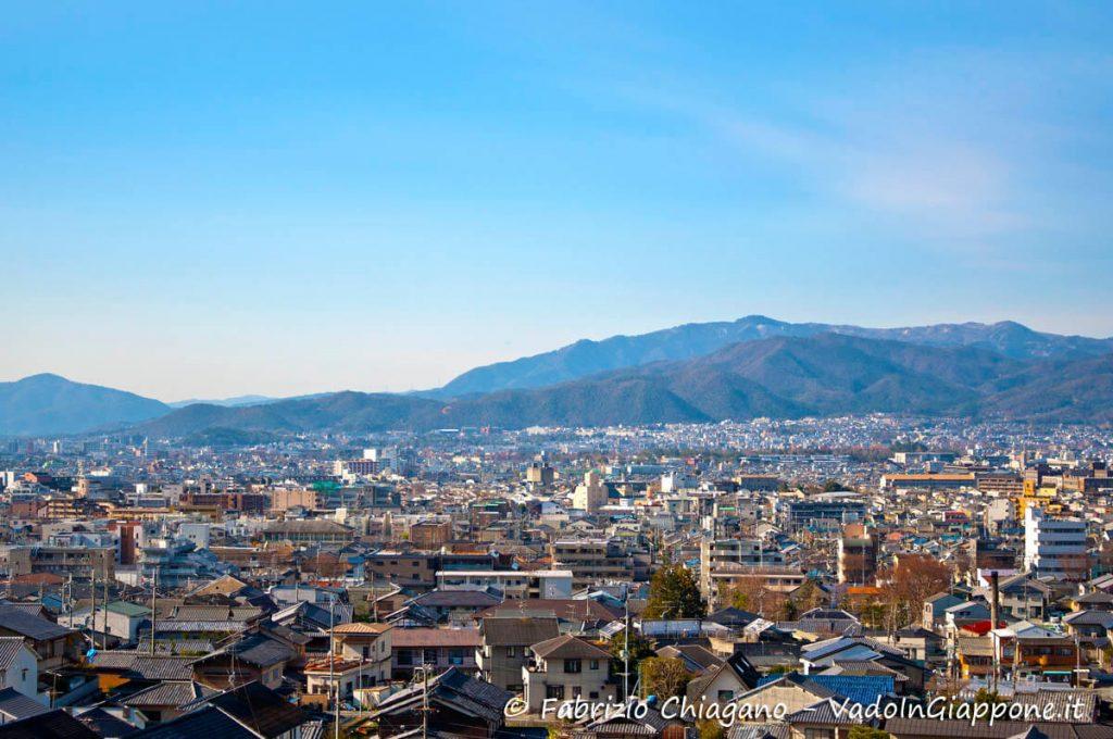 Panorama di Kyoto visto dal tempio Enkouji