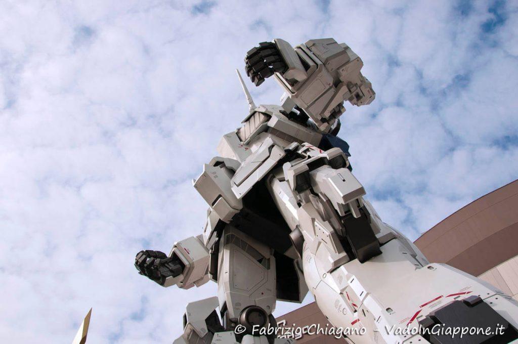 Particolare della statua di Gundam ad Odaiba, Tokyo
