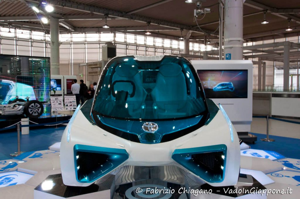Auto futuristica al Mega Web Toyota City, Odaiba, Tokyo