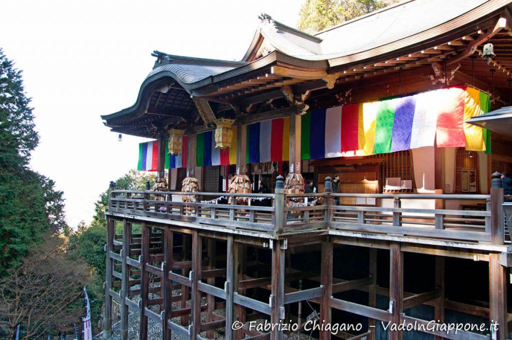 La terrazza del tempio Tanukidani-san Fudo-in a Kyoto