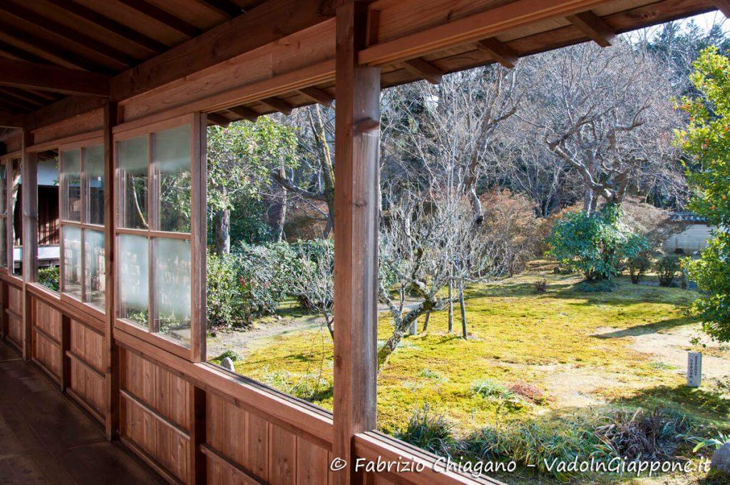 Vista di uno dei giardini del Tempio Manshuin-Monzeki, a Kyoto
