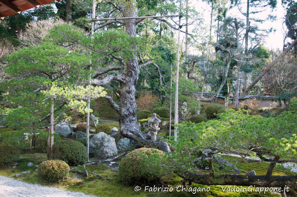 L'isola principale al centro del giardino del tempio Manshuin