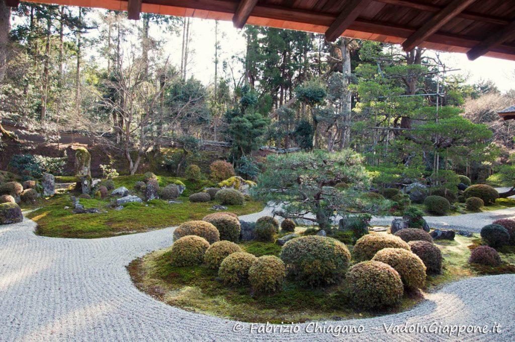 Il giardino in stile Karesansui del Manshuin-Monzeki
