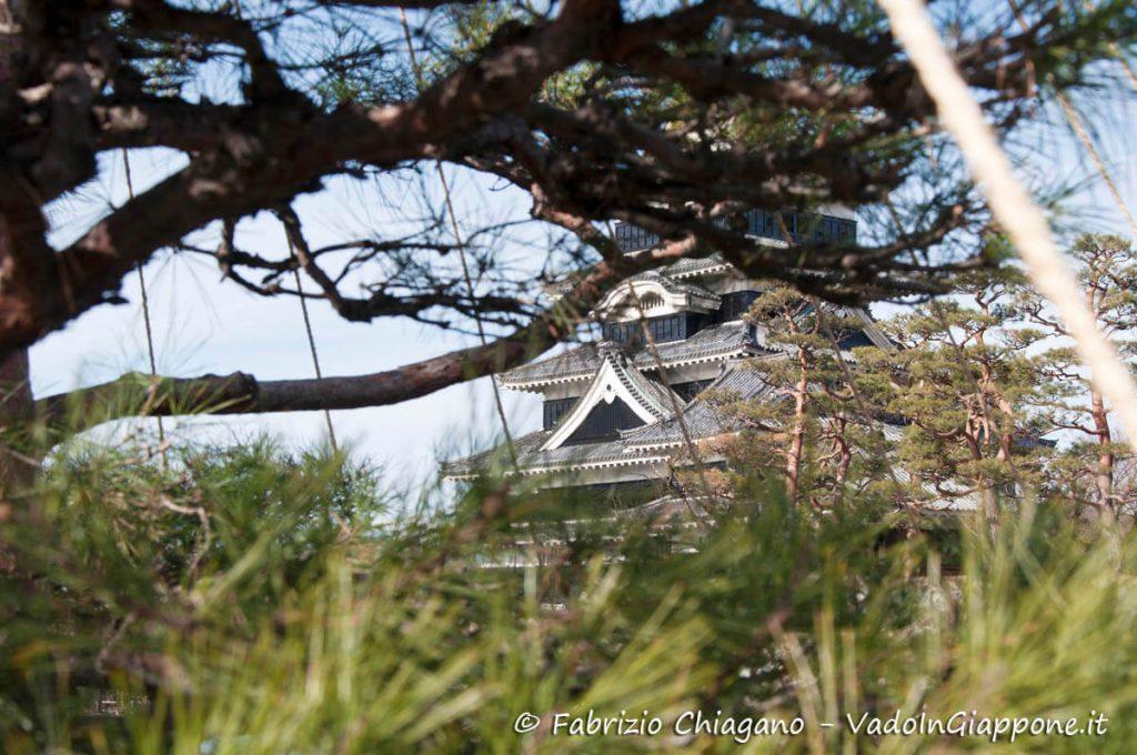 Particolare del Castello di Matsumoto, Giappone