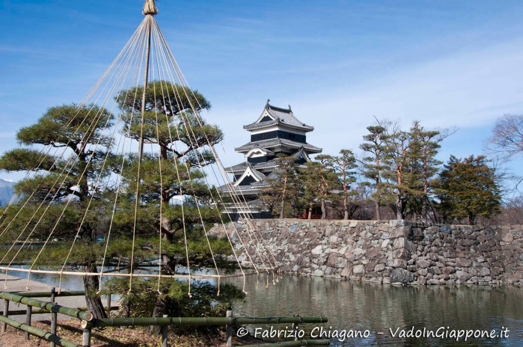 Preparazione invernale del Castello di Matsumoto