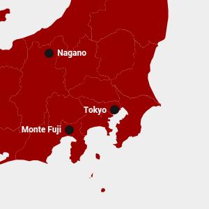 Mappa di Tokyo, Giappone