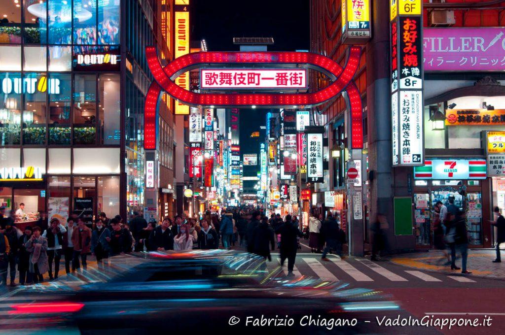 Principale porta d'ingresso di Kabukicho, Giappone