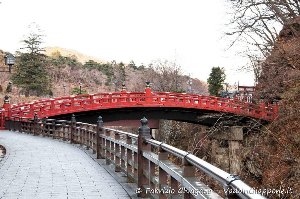 Ponte Shinkyo visto dal retro, Nikko, Giappone
