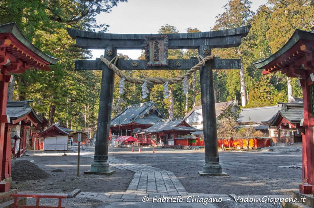 Torri all'ingresso del Santuario Futarasan a Nikko
