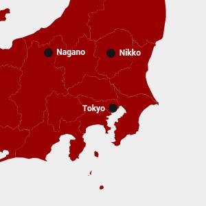 Mappa di Nikko, Giappone