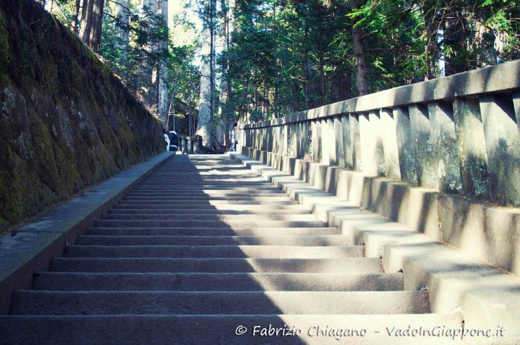 Scalini per arrivare al mausole di Tokugawa Ieyasu