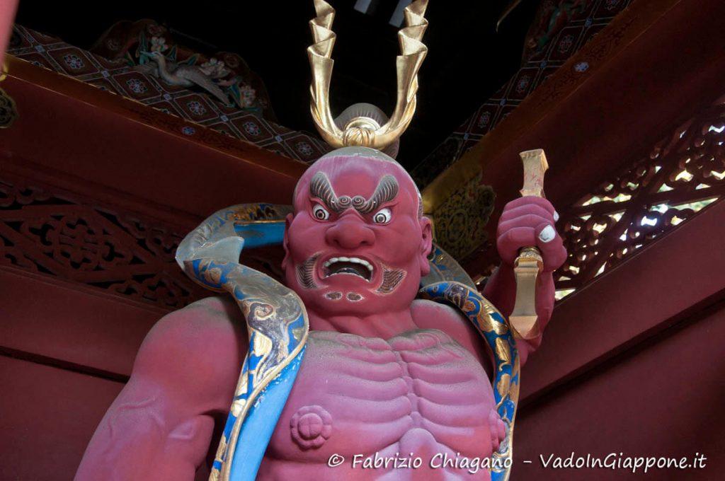 Statua di Ungyō del mausoleo Taiyuinbyo a NIkko