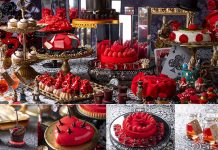 Buffet di dolci a tema Alice in Rose Labyrinth