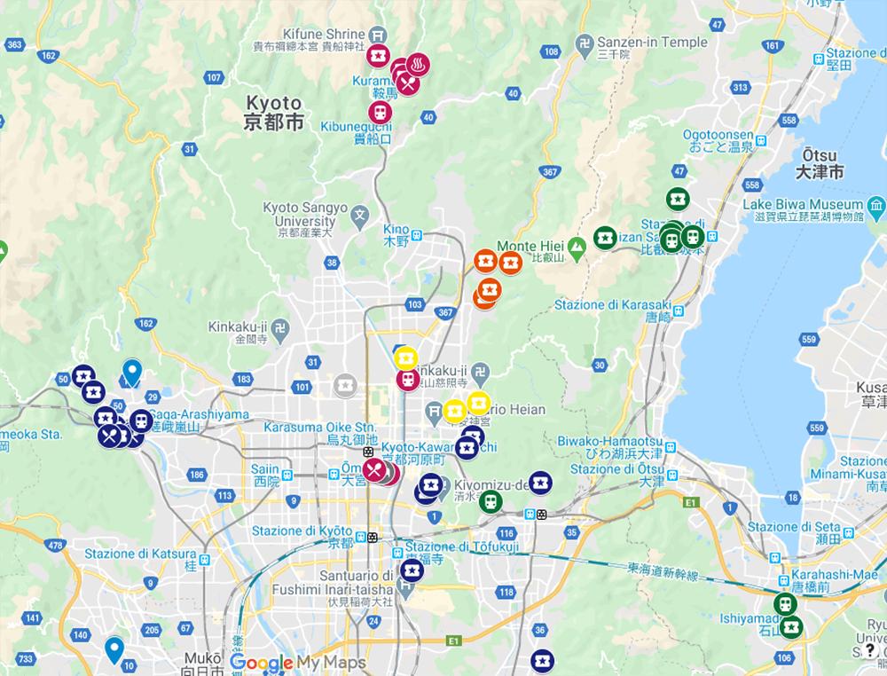 Creazione itinerario con Google My Maps - Mappa con punti di interesse