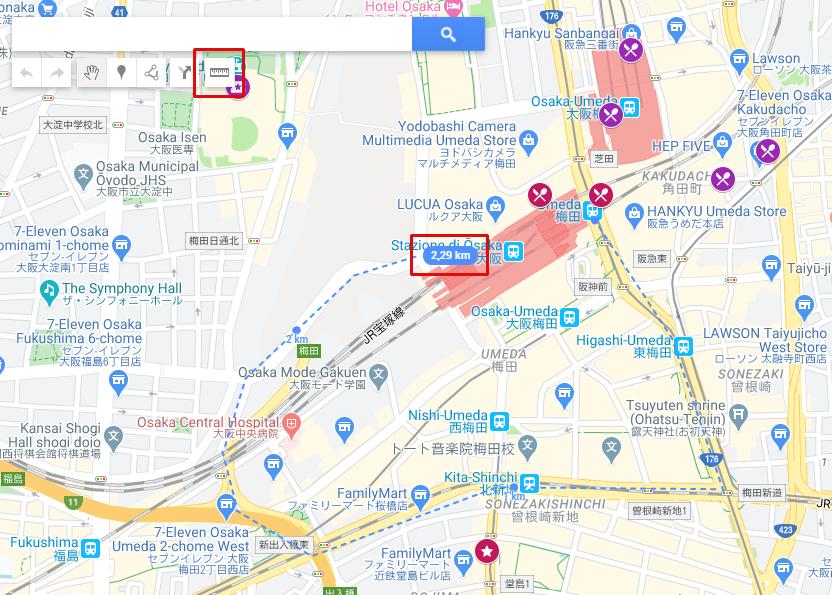 Creazione itinerario con Google My Maps - Misuratore di distanza