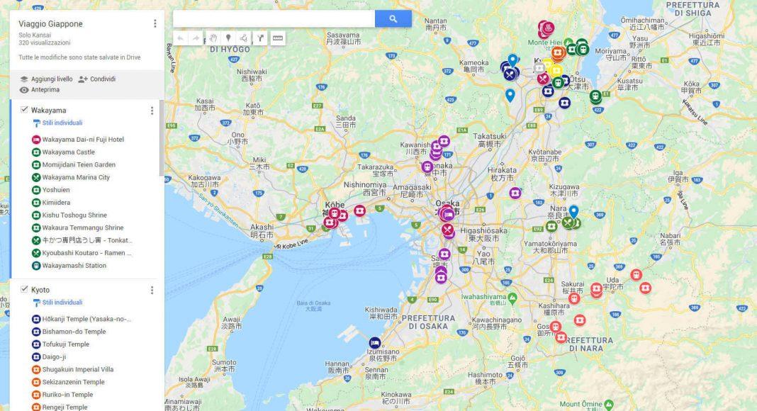 Come preparare un itinerario di viaggio con Google My Maps