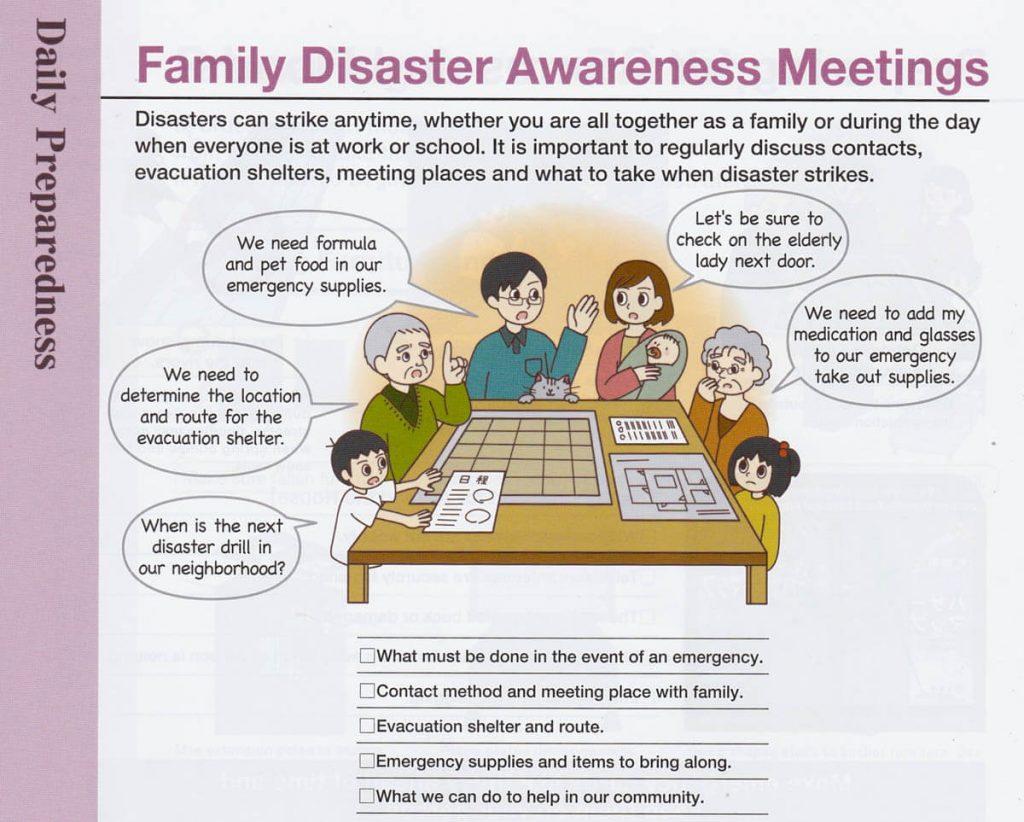 Brochure di prevenzione ai disastri naturali in famiglia