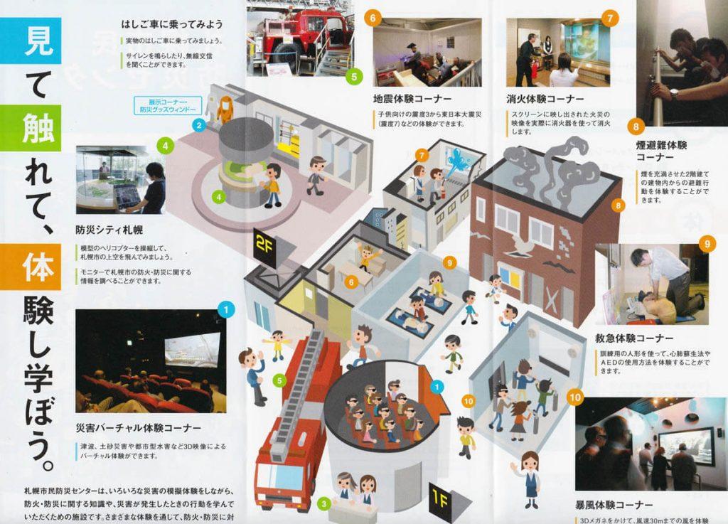 Mappa interna del Sapporo Citizens Disaster Prevention Center