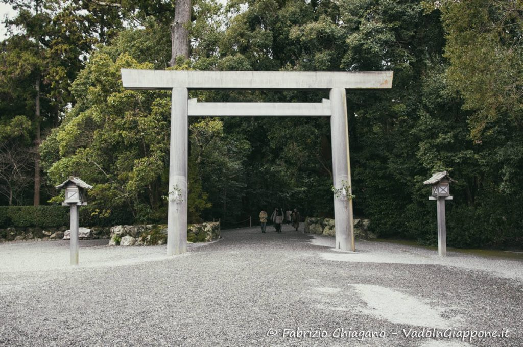 Il torii di ingresso del santuario Geku di ise