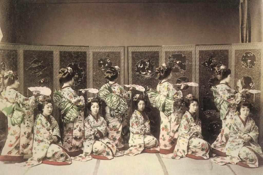 Foto storica di Geisha e Maiko