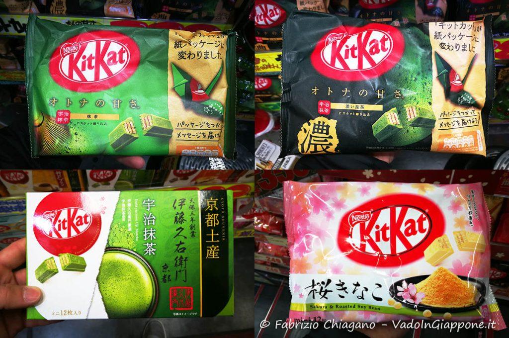 I gusti più classici di KitKat giapponesi